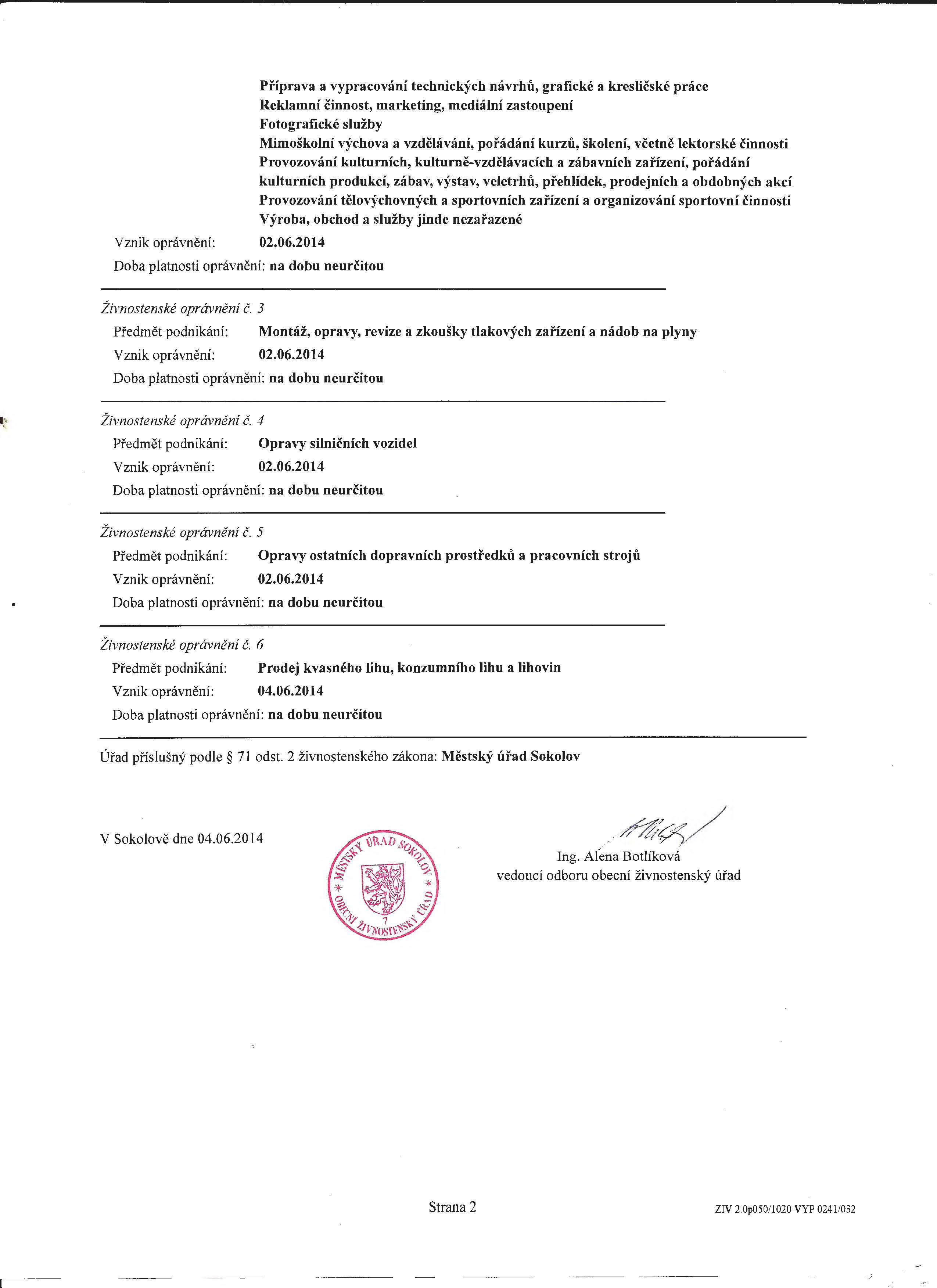 Výpis z živnostenského rejstříku, živnosti volné a řemeslné_Stránka_2