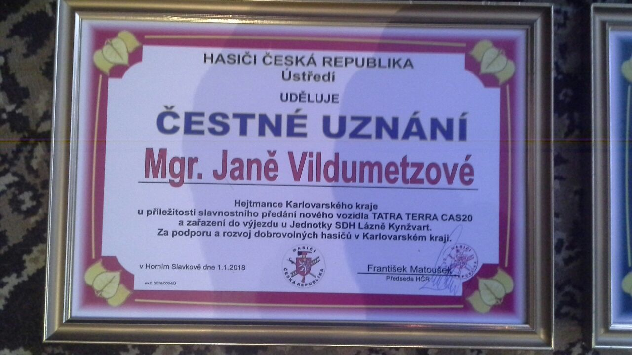 přední ocenění k projektu CAS20 Tatra 815 JSDH Lázně Kynžvart 1.1.20187 at 10.37.39